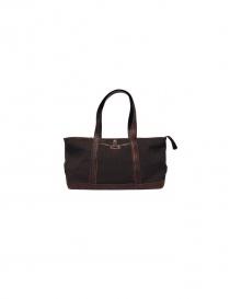 Sak canvas and leather Bag in dark brown color SAC004 MARRO order online