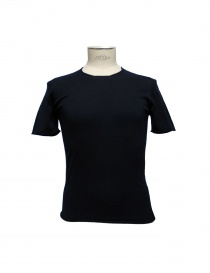 Mens t shirts online: Label Under Construction navy Punched Selvedge t-shirt