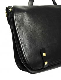 Il Bisonte Vincent black leather briefcase