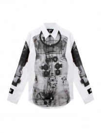 Camicia Hood By Air colore bianco e nero S15KT3-WHITE order online