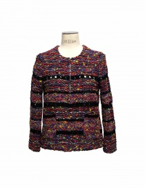 Coohem purple and black pullover in Yonetomi fabric online
