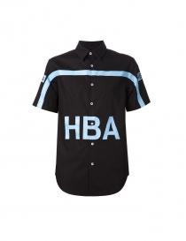 Camicia Hood By Air colore nero e azzurro PS15WT22A-BL order online