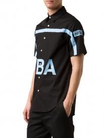 Camicia Hood By Air colore nero e azzurro