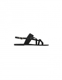 Sandalo nero Ancient Greek Sandals Alethea