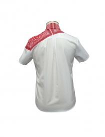 Camicia Yoshio Kubo colore rosso e bianco