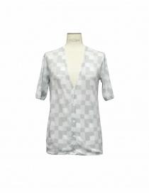 Womens cardigans online: Side Slope gray cardigan