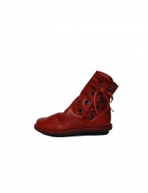 Trippen Tramp red ankle boots