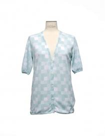 Womens cardigans online: Side Slope ligt blue cardigan