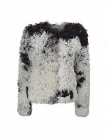 Giacca Utzon in pelliccia di agnello bianca e nera online
