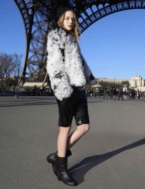 Giacca Utzon in pelliccia di agnello