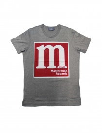 T-shirt grigia stampa rossa e bianca Mastermind X A-Girl's TS62-07-TOP- order online