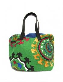 Saisei green canvas bag FRIDA SMALLP order online