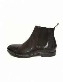 Measponte dark brown leather ankle boots