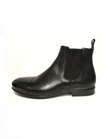 Measponte black leather ankle boots