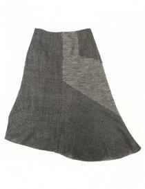 Fadthree grey asymmetric skirt