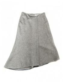Fadthree light grey asymmetric skirt 14FDF01-01-1 order online