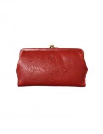 Red leather wallet Il Bisonte C0671 P 245 order online