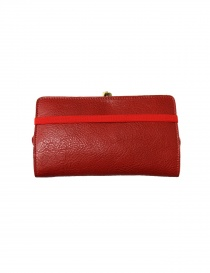 Red leather wallet Il Bisonte