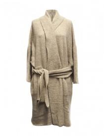 Cardigan lungo IL by Saori Komatsu colore beige 403-20-CARDI order online