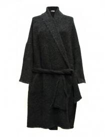 Cardigan donna online: Cardigan lungo IL by Saori Komatsu colore grigio scuro