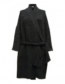 Womens cardigans online: IL by Saori Komatsu dark grey long cardigan