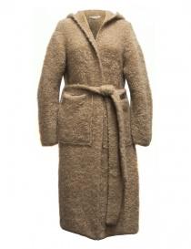Cappotto IL by Saori Komatsu colore cammello 408-31-CARDI order online