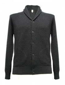 Mens cardigans online: GRP anthracite cardigan with frontal pockets
