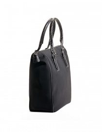 Alligator black leather Tardini shopper