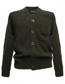 Cardigan uomo online: Cardigan Howlin' by Morrison colore verde