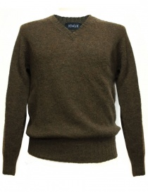 Mens knitwear online: Howlin' by Morrison brown pullover