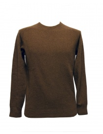 Mens knitwear online: Howlin' by Morrison tobacco sweater