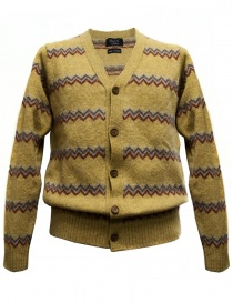 Mens cardigans online: Howlin' by Morrison yellow cardigan