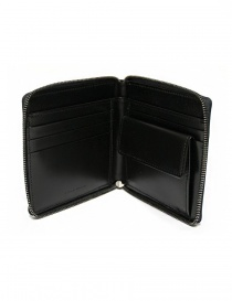 Ptah black navy leather wallet