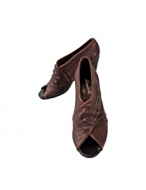 Brown leather Devrandecic shoes SEA SHELL WE order online