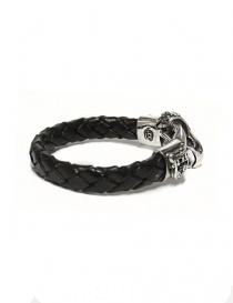 Elfcraft silver and leather bracelet