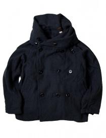 Womens jackets online: Kapital multi-purpose EK-395 Tri-P coat navy jacket