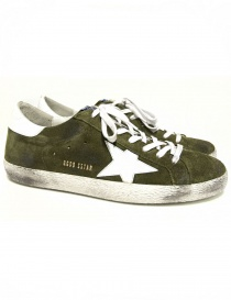 Sneaker Golden Goose Superstar colore army G30MS590-BE1 order online