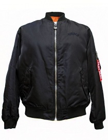 Golden Goose Oversized Bomber navy jacket G30MP561-A2 order online
