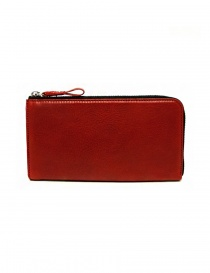 Cornelian Taurus Tower red leather wallet