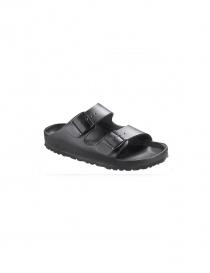Black leather double stripe women's sandals Birkenstock Monterey 001089793 DO order online