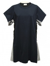 Womens dresses online: Harikae navy and stripes dress