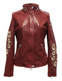 Womens jackets online: True Religion Racing red leather jacket