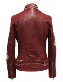 True Religion Racing red leather jacket