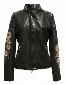 Womens jackets online: True Religion Racing black leather jacket