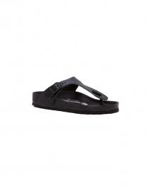 Black leather flip-flop Birkenstock Gizeh for woman 001043553 DO order online