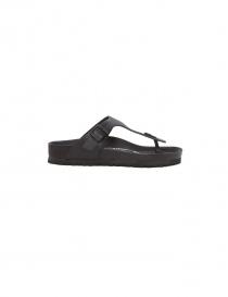 Black leather flip-flop Birkenstock Gizeh for man