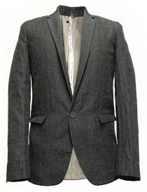 Giacche uomo online: Giacca Label Under Construction Classic colore grigio