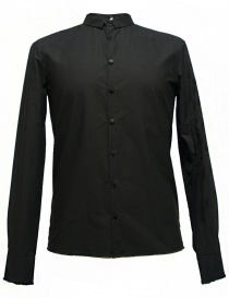 Camicia Label Under Construction Frayed Buttonholes colore nero 29FMSH36-CO184-29-9 order online
