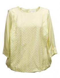 Camicia Harikae colore giallo SS17H0027-SILK-BLOUS order online