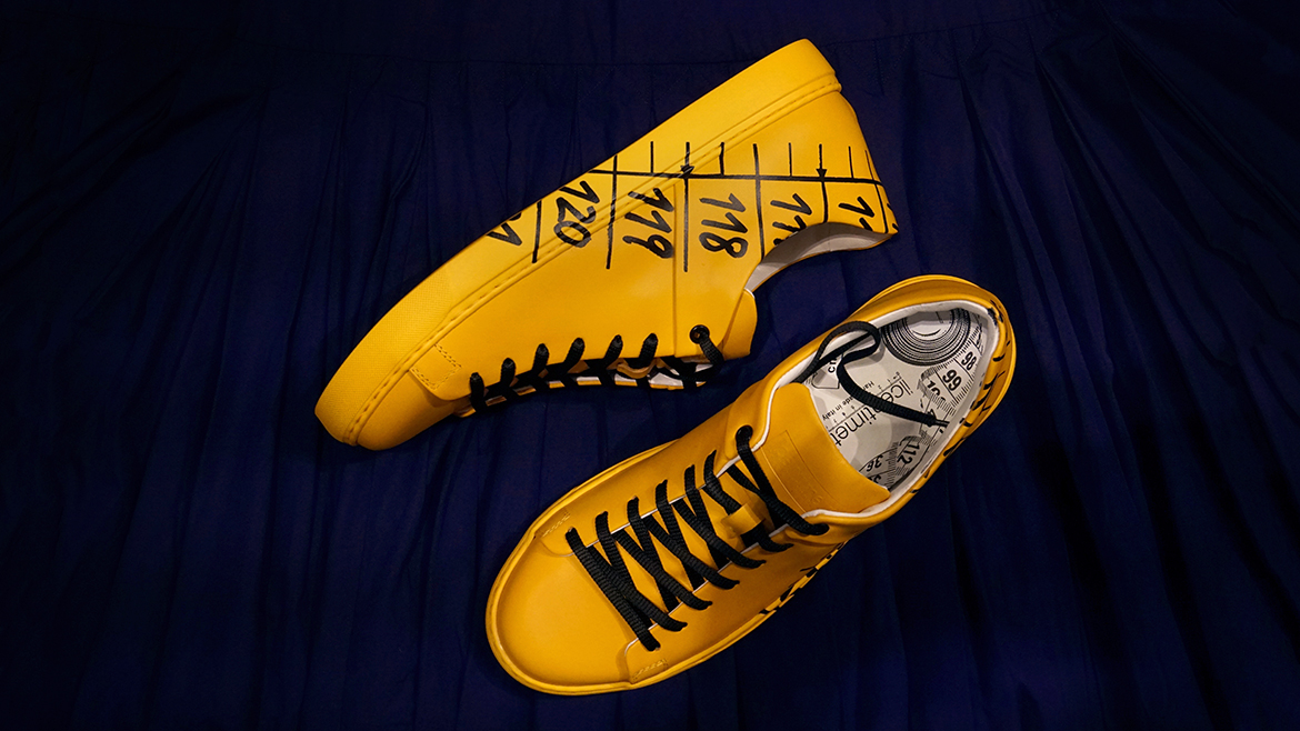 Yellow sneakers by Il Centimetro